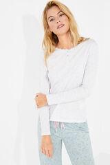 Womensecret Camiseta lisa algodón gris