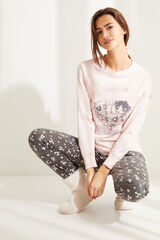 Womensecret Pijama manga larga Supernenas rosa rosa