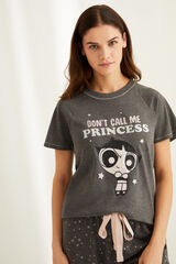 Womensecret Pijama manga corta algodón Cactus gris