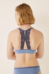 Womensecret Soutien push-up costas renda azul