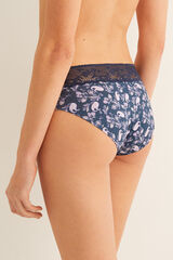 Womensecret Braguita culotte brasileña azul