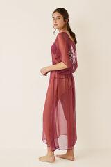 Womensecret Camisón de tul con bordados estampado