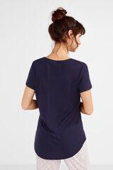 Womensecret Camiseta manga corta 'free time' azul