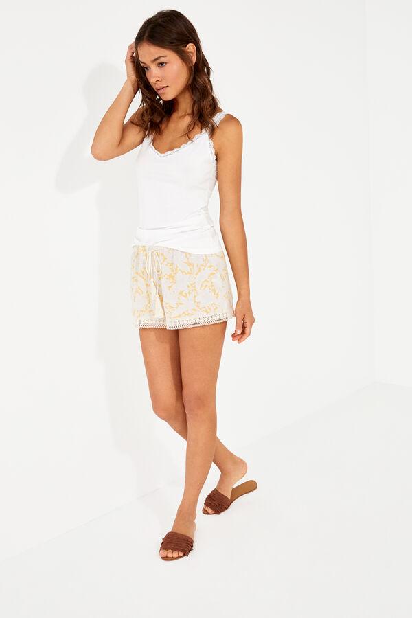 26b017e02e Womensecret Pantalón corto crochet estampado