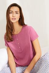 Womensecret T-shirt padeira algodão rosa rosa