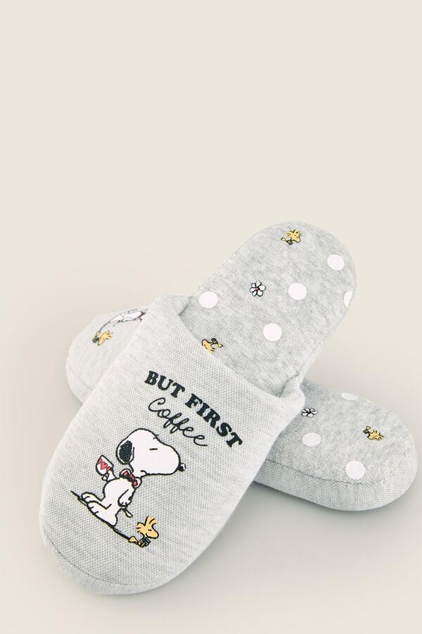 gran descuento precio especial para super especiales Zapatillas casa Snoopy grises