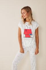 Womensecret Pijama largo Snoopy beige