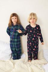 Womensecret Pijama largo estampado navideño kids azul
