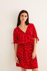 Womensecret Vestido corto topos rojo