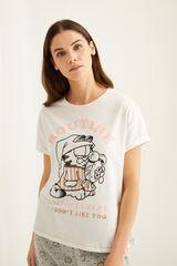 Womensecret Pijama Capri Garfield blanco