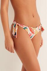 Womensecret Braga bikini reversible tropical rojo