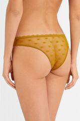 Womensecret Braguita brasileña con plumetti estampado