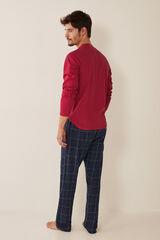 """Womensecret Pijama comprido de homem """"Sofá, sesta"""" vermelho"""