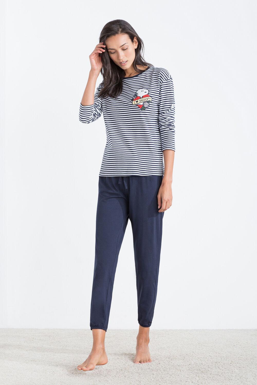 e04b549e Womensecret Pijama de algodón de Snoopy estampado