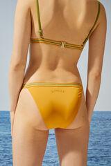 Womensecret Braga bikini clásica amarilla brillo amarillo