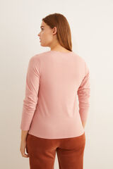 Womensecret Camiseta rosa panadera  rosa