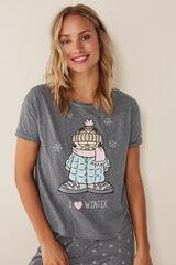 Womensecret Pijama largo Garfield gris