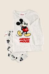 Womensecret Pijama largo polar Mickey Mouse kids gris