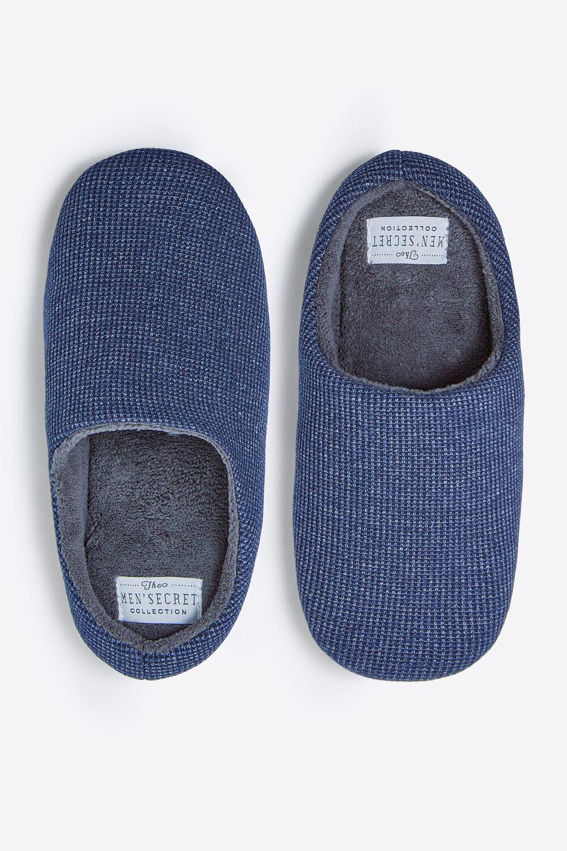 72bffadac8 Womensecret Zapatillas abiertas de punto para hombre estampado