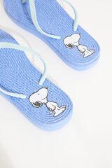 Womensecret Chanclas azul rafia Snoopy azul