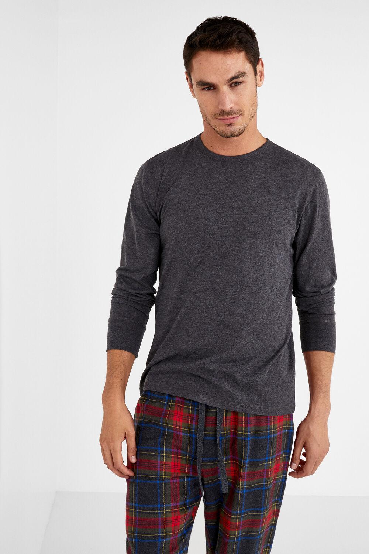 db5ecf142d Womensecret Pijama largo algodón para hombre gris