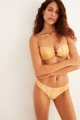 Womensecret Top bikini bandeau estampado estampado