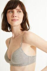 Womensecret LOVELY Sujetador triangular algodón orgánico gris
