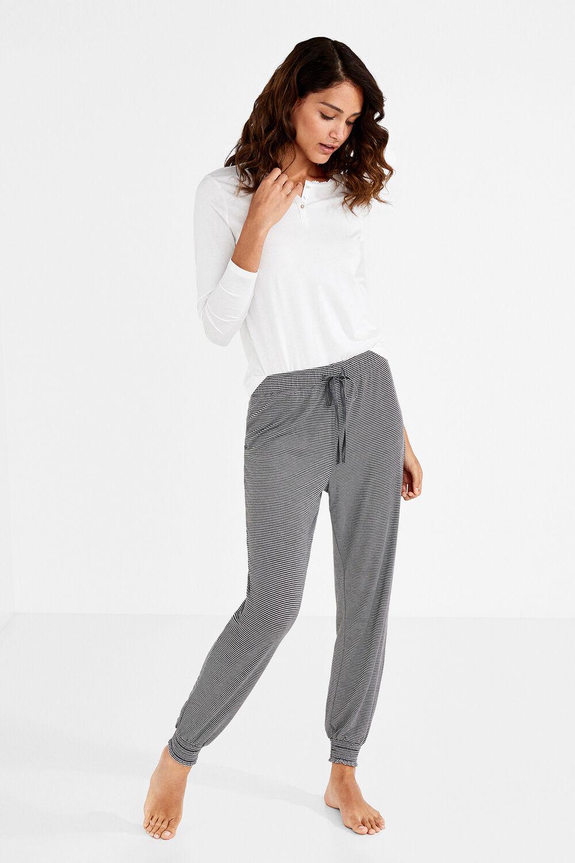 06ede4261 Womensecret Pantalón largo estampado rayas estampado