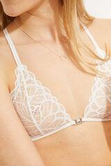 Womensecret NATURAL Sujetador triangular encaje blanco blanco