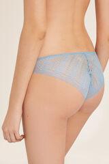Womensecret Cuequinha clássica renda geométrica e tule azul