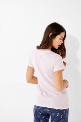 Womensecret Camiseta manga corta panadera rosa