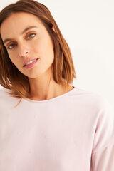 Womensecret Pijama largo velour detalles strass rosa rosa