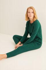 Womensecret Camiseta panadera larga verde verde