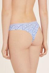 Womensecret Braguita brasileña algodón estampado azul
