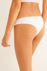 Womensecret Braguita brasileña algodón orgánico blanca blanco