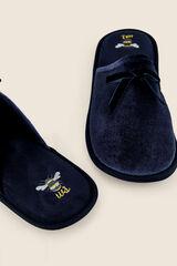 Womensecret Zapatillas casa terciopelo azul