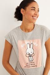 Womensecret Pijama largo Miffy algodón  gris