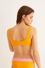 Womensecret Top bikini bicolor estampado