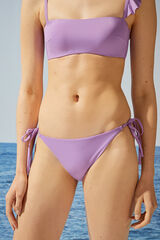 Womensecret Braga bikini clásica morado tejido reciclado rosa