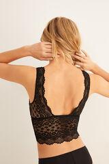 Womensecret Bralette triangular encaje negro
