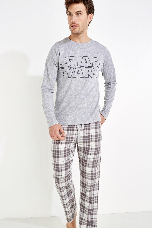 9033c84165 Womensecret Pijama para hombre de algodón de Star Wars gris