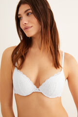 Womensecret GORGEOUS Sujetador push up guipur blanco