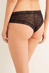 Womensecret Braguita culotte brasileña encaje negro
