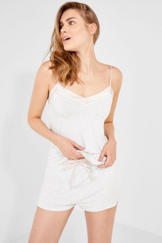 7bd6bb80cc Womensecret Pijama corto con satén gris
