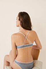 Womensecret Soutien push-up costas alças cruzadas azul