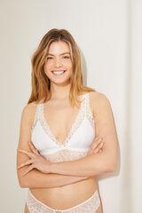 Womensecret  Top bralette blanco blanco