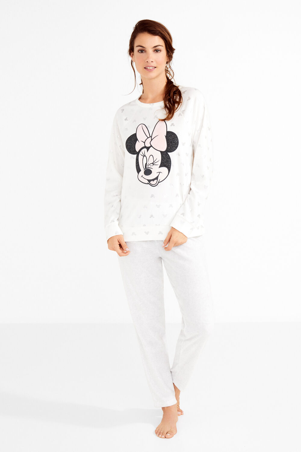 ab83783702 Womensecret Pijama largo polar Minnie estampado