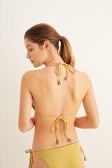 Womensecret Top bikini volantes amarillo