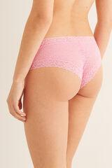 Womensecret Braguita culotte brasileña encaje rosa