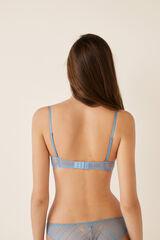 Womensecret Soutien push-up renda geométrico e tule azul